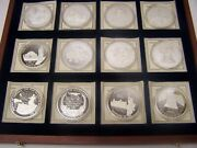 American Mint Symbols Of Freedom .999 Silver Proof 12 Pc. Set In Wooden Display