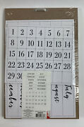 Perpetual Calendar One Board 12 Single Sided Months 31 Days New Sealed