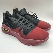 Under Armour Curry 4 Low Rare Sample Warriors Nba Mens Size 10.5 Red 3021707-600