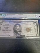 1929 Marine Illinois Il National Currency Bank Note Bill Ch. 10582 Serial 4