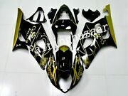 Fit For 2003 2004 Gsxr1000 Corona Black Gold Abs Injection Bodywork Fairing Kit