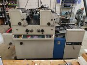 Ryobi 3302m Two-color Offset Printing Press In Very Good Working Condition