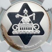 1979 Israel Antique Egyptian Menorah Lamp Pyramid Proof Silver 100 L Coin I87950