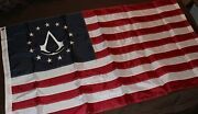 Official Assassinand039s Creed 3 Iii Colonial Flag From Collectorand039s Edition New