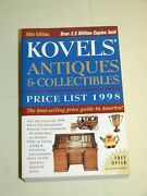 Vintage Kovels Antiques And Collectibles Price List Guide Book 1998 882 Pages New