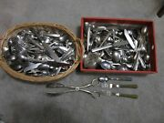 Lot Assorted Silverware Flatware Silverplate Stainless Forks Knives Spoons 20 Lb