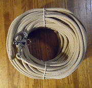 3/8 X 125 Ft. Tan/beige Dacron/polyester Halyard Spliced In S/s Snap Shackle