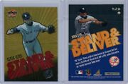 1997 Score Stand And Deliver Red Letter 9 Derek Jeter 25 Made