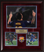 Lionel Messi Signed Autographed Photo Custom Framed To 20x24 Fc Barcelona Icons