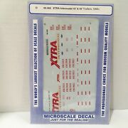 O Scale Microscale Decals 48-369 Xtra Intermodal 45' And 48' Trailers 1993 Sealed