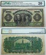 Canada 1 1911 Pmg 20 .large Banknote