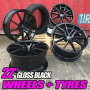 22 Spyder Alloy Wheels And Tyres Fits Range Rover Sport Discovery Velar F-pace