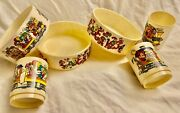 Disney Vintage Mickey Train Snackand039n Fun Time Bowl And Cup Child Set Superior