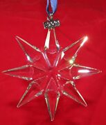 2009 Christmas Crystal Ornament Large Annual Edition Mint