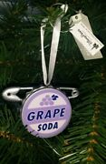 Disney Parks Grape Soda Safety Pin Ornament Pixar Up Hand Painted New Ships Free