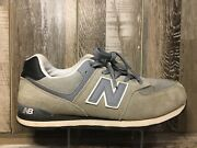 New Balance Nb574 Classic Suede Trainers Grey Kl574cig Men 7 Woman's 8.5 |a39