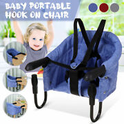 Baby Portable Travel Hook On High Chair Seven-point Safety Strap W/ Storage Bag