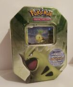 Pokemon 2007 Turtwig Tin Box With 4 Sealed Ex Booster Packs Dragon Frontiers