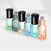 Wholesale 3ml Mini Empty Glass Bottles With Steel Roller Ball For Essential Oil