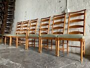 6 Drexel Heratige Mid Century Modern Highback Dining Chairs Captains Lineage