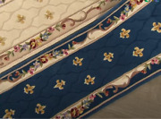 Royal Palace Anniversary Fleur De Lis 2and0393 X 9and0396 Wool Rug Sapphire Blue