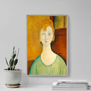 Amedeo Modigliani - Girl In A Green Blouse 1917 - Painting Poster Art Print