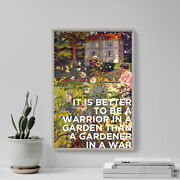 It Is Better To Be A Warrior In A Garden - Quote Poster Art Print Bjj Mma