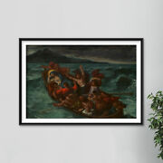 Eugene Delacroix - Christ Asleep During The Tempest Painting Poster Art Print