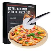 Royal Gourmet 2-piece Pizza Set For Grill Bbq Oven   Baking Accessories Ksf1305