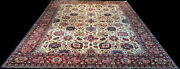 Astonishing 10and039 X 13and039 Decorative Colorful Antique Signed Genuine Tabreez Rug