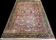 An Antique 8and039-9 X 14and039-6 Decorative Worn Out Indian Amritsar Rug