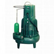 Zoeller 284-0059 Sewage Pump With Mechanical Float Switch 1 Hp 230 V 3 Ph
