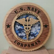 Us Navy Corpsman - They Call Me Doc - Laser Cut 3d Wood Wall Tribute Plaque 11andfrac14