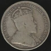 1909 Canada Edward Vii Silver 25 Cents Coin   World Coins   Pennies2pounds