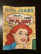 Intel Leads Magazine April 1995 - April Fools Issue - Extremely Rare