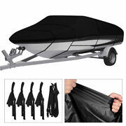 17-19ft Waterproof Heavy Duty Trailerable Boat Cover V-hull Runabout Full Size