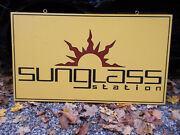 2 Sided Metal Advertising Sign Sunglass Station Cool Design - 24 X 42 X 1 1/4