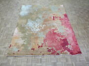 8and0391 X 10 Hand Knotted Multi Colored Modern Abstract Oriental Rug With Silk G9146