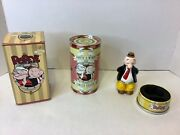 Limited Edition 1997 Popeye And Wimpy Tin And Figurine