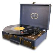 Record Player, Luker Portable Suitcase Bluetooth Turntable For Vinyl Record, ...