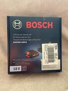 Bosch 18 Volt Li-ion Starter Kit Includes 4.0 Ah Battery And Charger Gxs18v-15n15