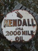 Vintage Kendall Oil Sign, Kendall The 2000 Mile Oil Sign, 36 Oil Sign