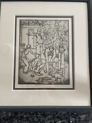 Antique 1936 Leroy Walter Flint Wpa Federal Art Project 1,tourist Camp Etching