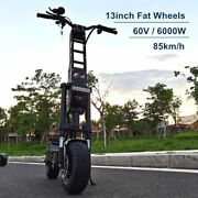 2021 13inch Wheels 60v 6000w E Scooter With 90-150km Range Speed Dual Engine New