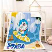 Yellow Swimming Circles Clear 3d Warm Plush Fleece Blanket Picnic Sofa Couch
