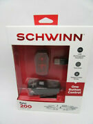 Schwinn One Button Control 200 Sync Bicycle Light Set Steady Flash New And Sealed