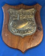 Vintage Us Navy Uss Silversides Ssn-679 Wood And Resin Plaque Nuclear Submarine