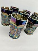 Fenton Butterflies And Berries Carnival Art Glass Tumblers - Set Of 8