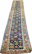 A Brilliant Antique Decorative 17and039 Long Nw Hallway Runner Rug