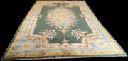 Antique Palace Size English 9'x15' Chenille Rug With French Savannerie Pattern